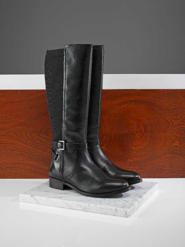 Briony comfortable riding boot with elasticated calf for wider calf fit boot options.