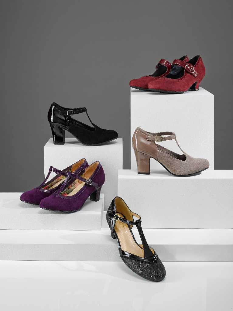 Comfortable Mary-Jane styles are perfect for parties.