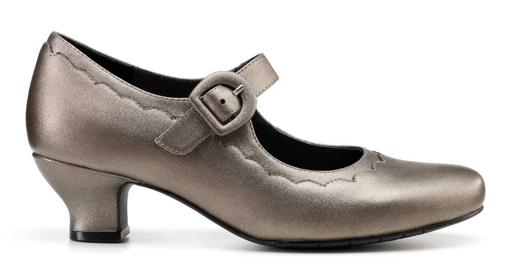 Beautiful Bridgette is a classic, smart comfortable ladies t-bar shoe.