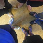 Comfortable shoes are a must for our librarian testing team