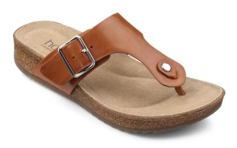 Women's toe post sandal Resort in Tan
