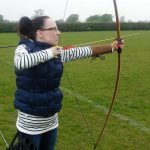 In her spare time, Louise, as a member of Chester County Bowmen takes part in archery.