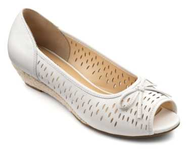 Women's wedge Carnival in colour Off White