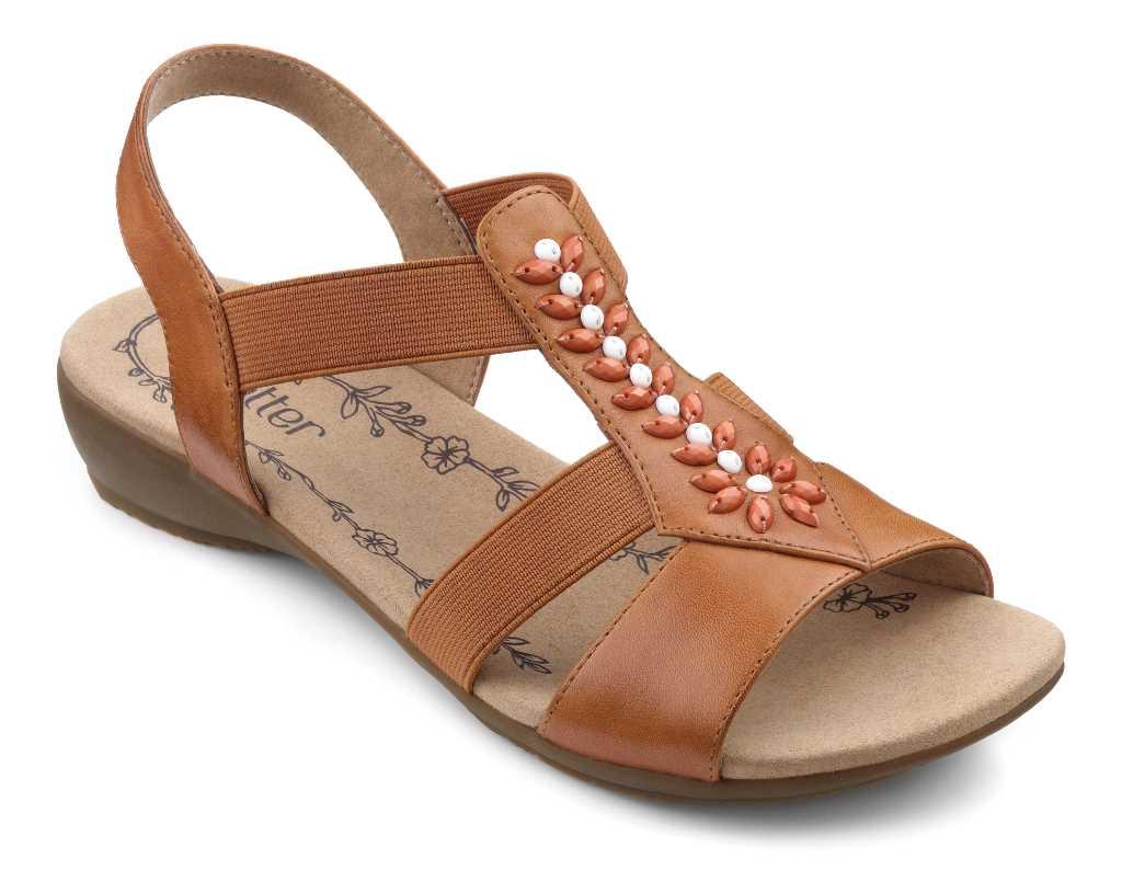Women's summer sandal Montserrat in Tan