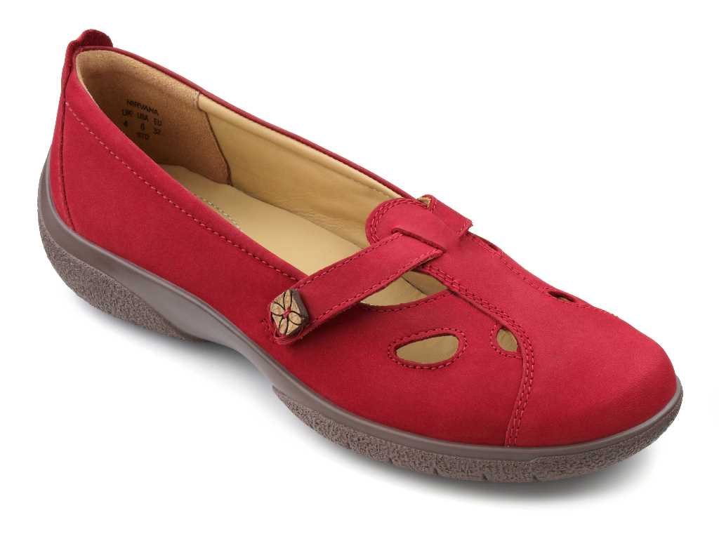 Women's casual shoe Nirvana in colour Crimson