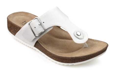 Women's summer toe-post sandal Resort in colour White