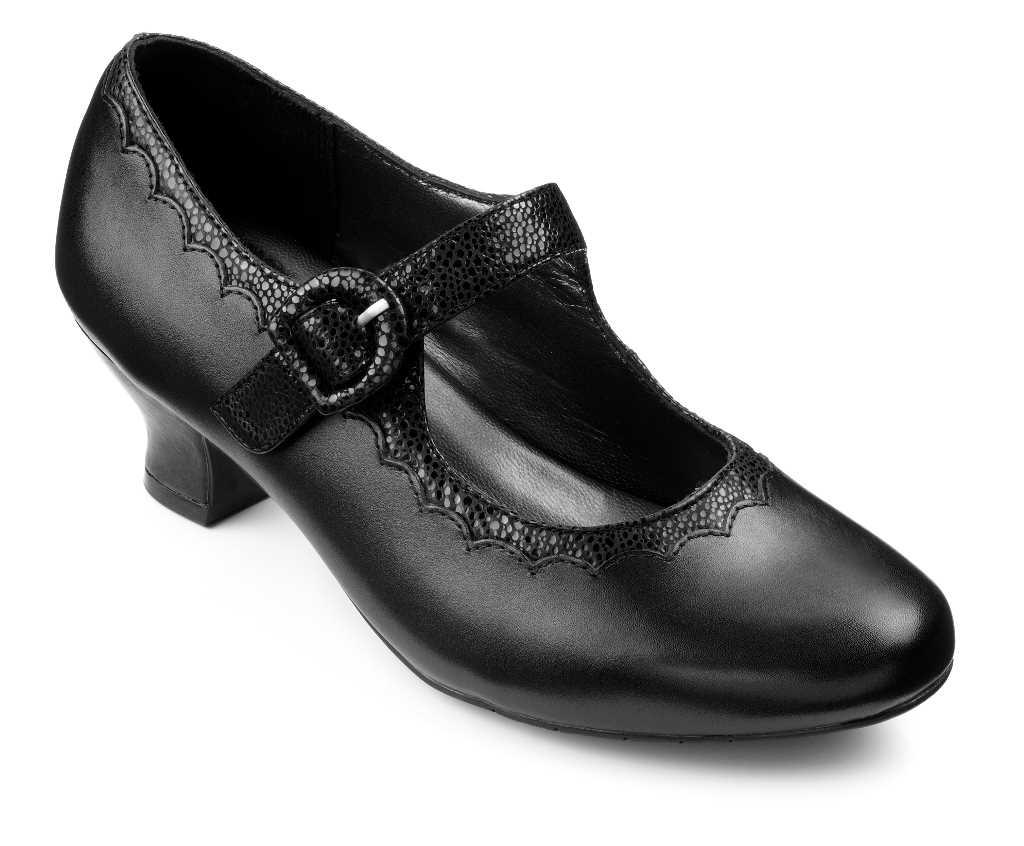 Women's vintage heel Bridgette in Black