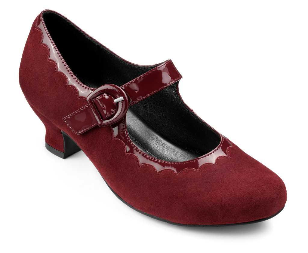 Vintage women's heel Bridgette in Burgundy