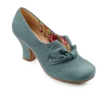 Vintage inspired women's heel Donna in Dark Aqua