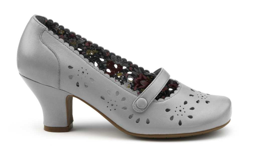 Women's heel Raquel in colour light grey