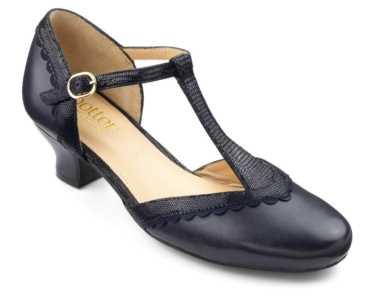Vintage inspired women's heel Viviene in Navy