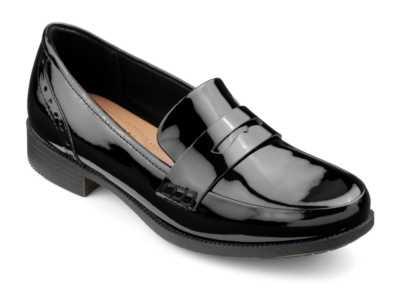 Women's smart loafer style Crimdon in Black