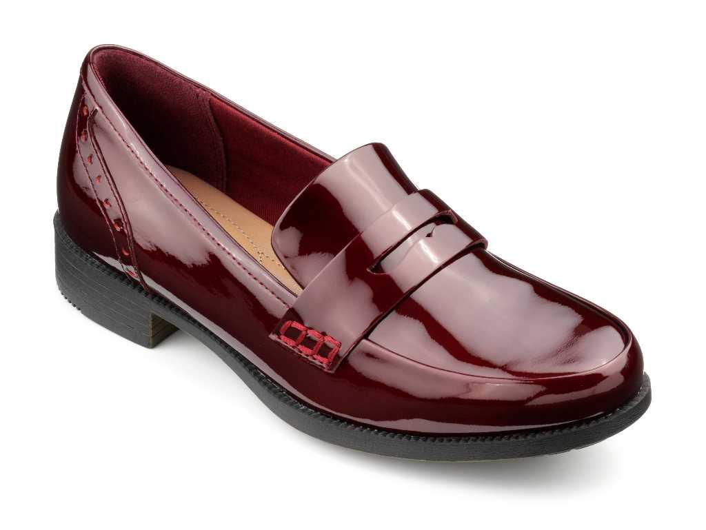 Women's smart loafer style Crimdon in Burgundy Metallic