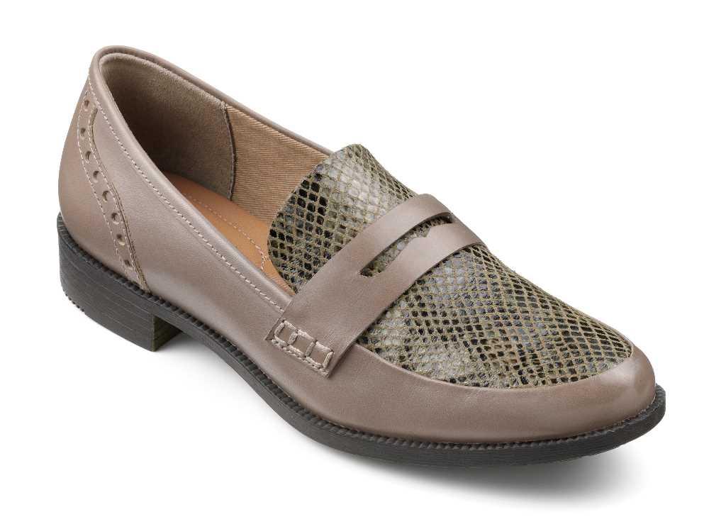 Women's smart loafer style Crimdon in Truffle Multi