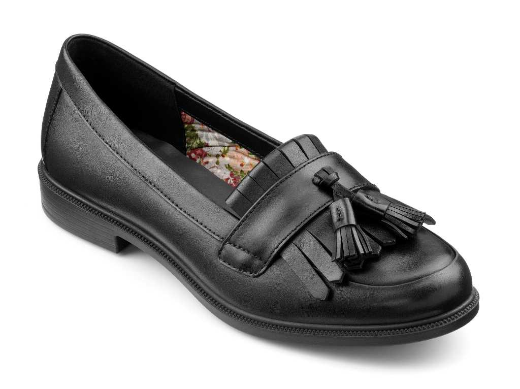 Smart women's loafer Hamlet with tassel detail in colour Black