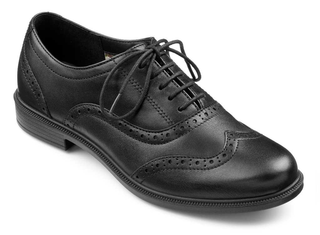Women's brogue style Village in Black