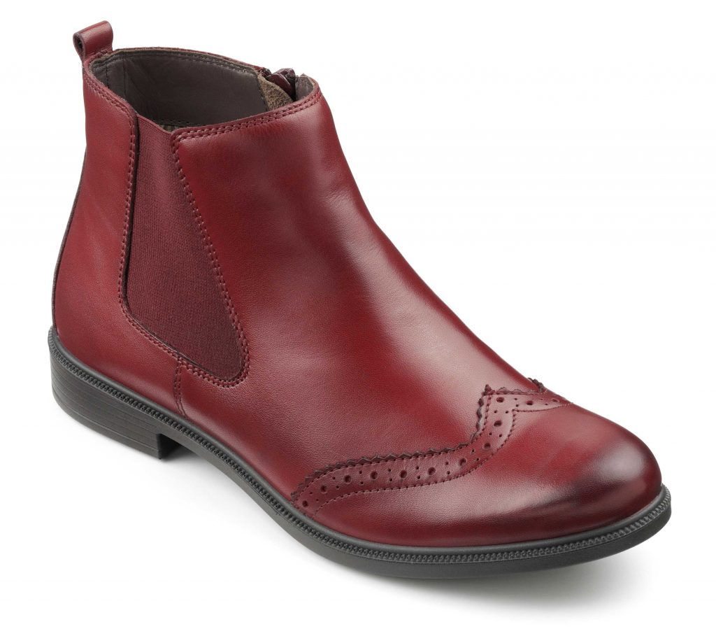 Women's Chelsea boot County in Burgundy