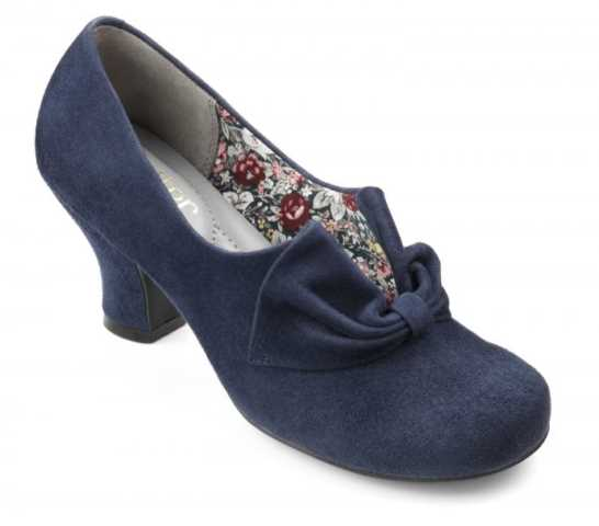 Women's vintage heel Donna in Dark Blue