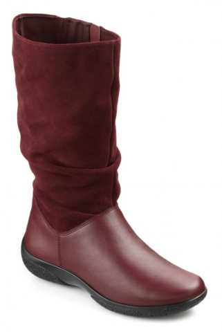 Comfortable women's boot Mystery in Burgundy