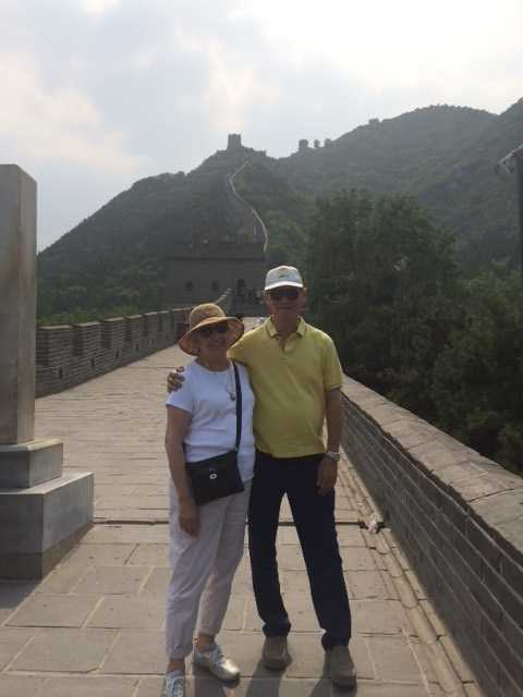 Hotter customer Marilyn at The Great Wall of China wearing women's active style Leanne
