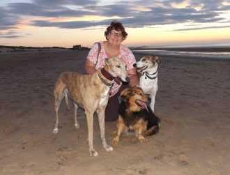 Walking with dogs is Suzanne's daily exercise, having the dogs is a great way to get out and be healthy.  As a part time junior school teacher, Suzanne is often sitting marking books inside so it gets her outside and moving.