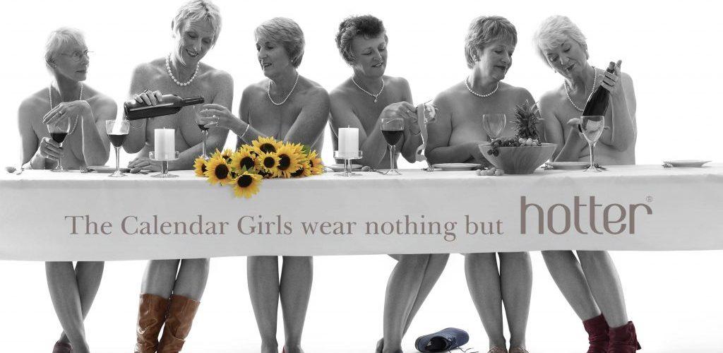 The Original Calendar Girls wear nothing but Hotter shoes