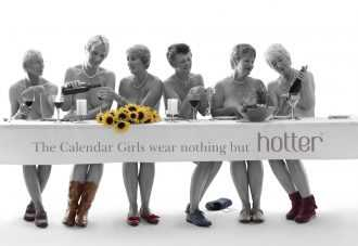The Original Calendar Girls wear nothing but Hotter shoes