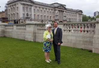 There are some occasions that occur just once in a lifetime and when Hotter customer Jo Rus sent us this photograph of herself and husband Mirek outside Buckingham Palace we just had to find out more.