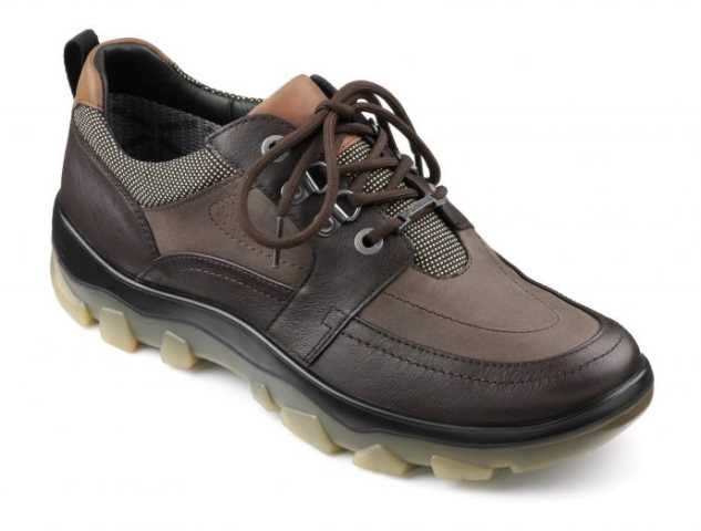 Men's GORE-TEX lace up shoe Pitt in colour Chocolate Combination