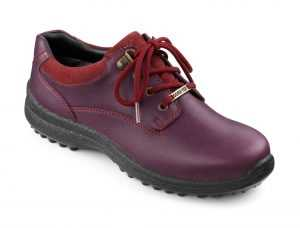 Women's GORE-TEX lace up shoe Ramble in Aubergine/Cherryberry