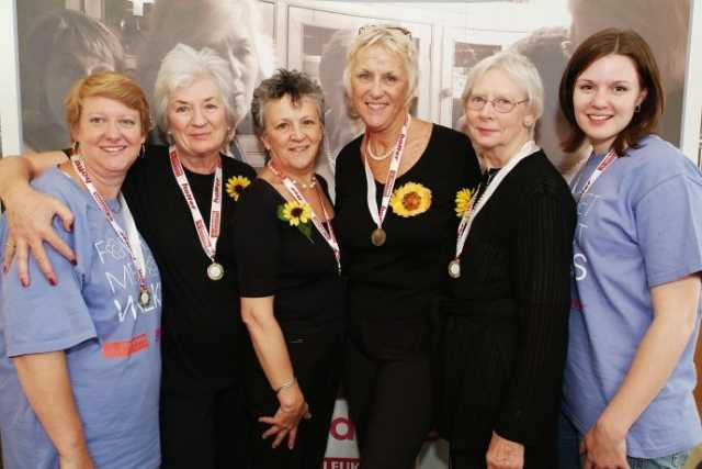 The Calendar Girls wore Hotter shoes for the sponsored walk.