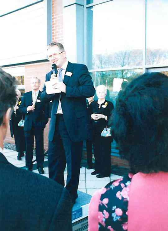 Stewart invited the Calendar Girls to officially open our new factory in 2003.