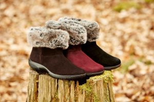 Romance boots, cushioned and cosy boots, AW16, faux fur footwear, wide fitting boots, zip fastening boots, dog walking boots, winter boots, waterproof footwear, comfortable women's shoes, British made footwear, nubuck boots, leather ankle boots