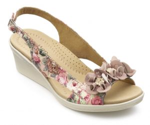 Hotter Originals, Shake shoes, canvas shoes, wide fitting shoes, comfortable women's shoes, British made shoes, summer shoes, ballerina flats, floral prints, leather shoes, heels, wedges