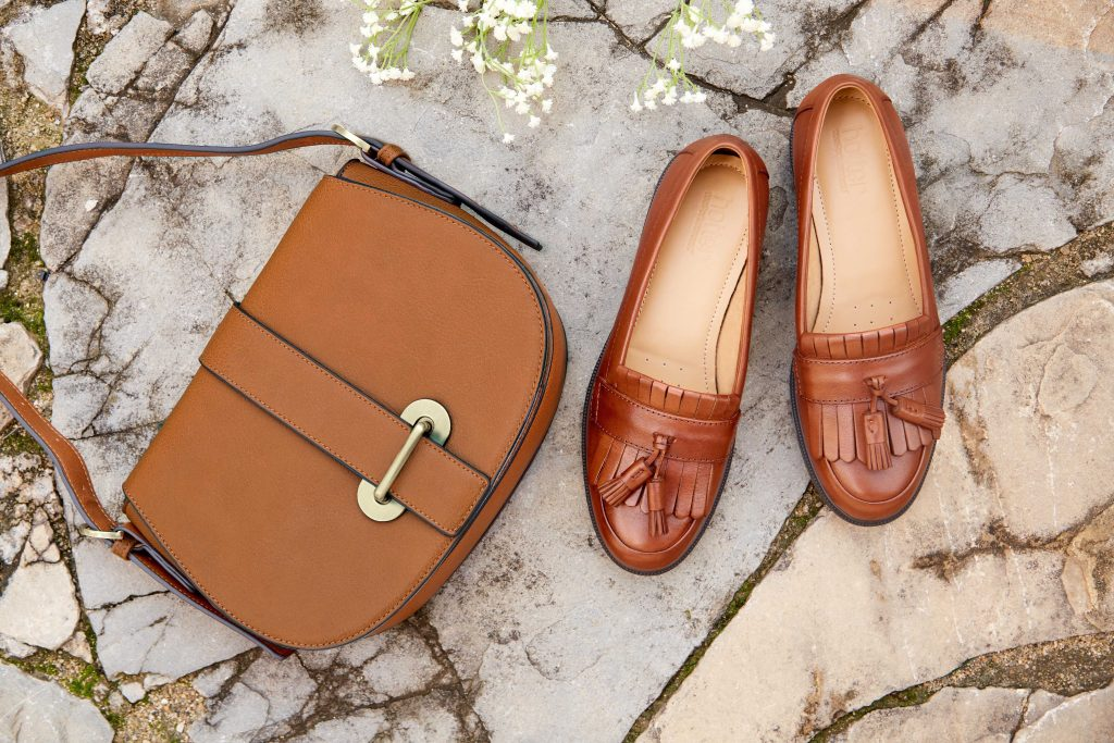 Hotter Originals, British Made Shoes, Comfortable Women's Footwear, SS17, Lightweight Shoes, Wide Fitting Shoes, Wide Fit Sandals, Summer Event Dressing, Man Tailored, leather Loafers, leather shoes, leather bag, saddle bag, Hamlet loafers, tassel loafers