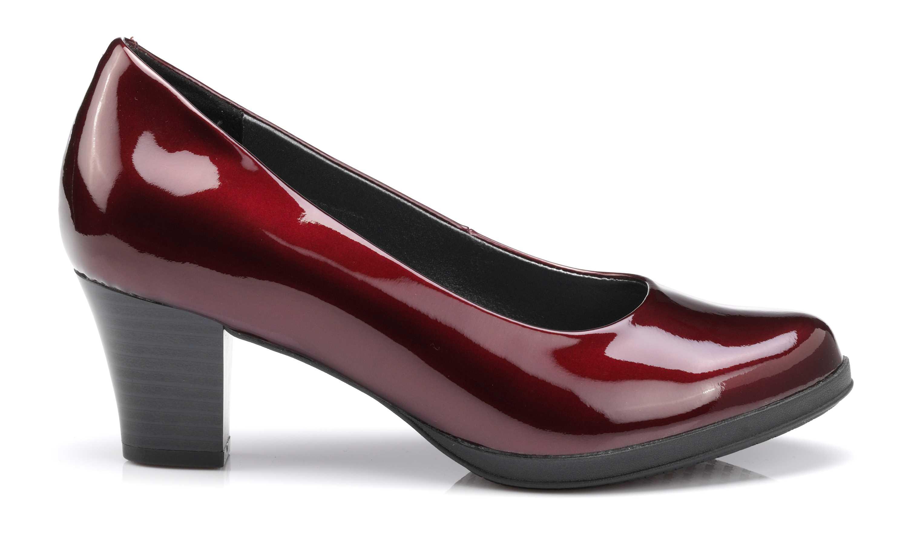 Women's burgundy patent heel Angelica