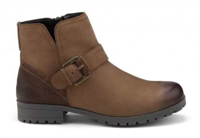 Women's biker boots Lotty in Dark Tan